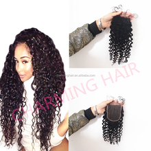 Malaysian Deep Curly Lace Closures Bleached Knots