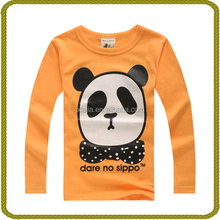 Children cotton fashion school uniform t-shirt