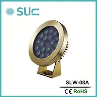 Hot fashion 23W ip68 brass led underwater lights for small fountain(SLW-08A)