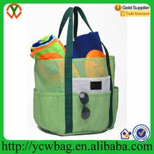 Wholesale popular mesh family tote beach towel bag