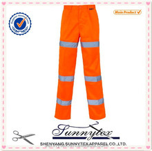 Online star product yellow colour work pants reflective
