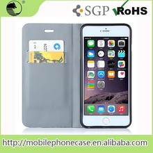 Free Samples Cheap Price Wallet Card-Slot Pu Leather Cell Phone Case For iPhone 6 plus 5.5