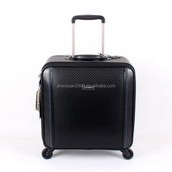 Imported China Goods Men's Leather Business Travel Trolley Bag,Polo Trolley Travel Bag
