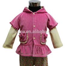 moda 2014 el último diseño de terciopelo pc 3 muchos muchos de ropa del bebé