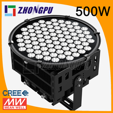 50000 Lumen building spotlights 500w dimmable with Meanwell HLG Driver