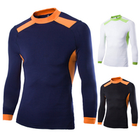 Ready-made Long Sleeve Men's Dryfit Sports O-neck Cycling Sport Clothes Tracksuit Athletic Apparel Wholesale