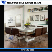 round folding table glass extendable Dining Table with white painting