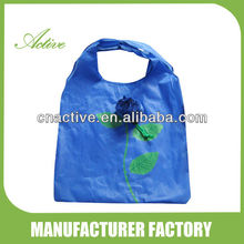 190T Polyester Flower Shaped Foldable Shopping Rose Bag