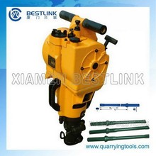 Small land drilling machine for both stone and concrete