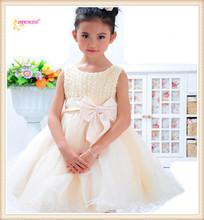 Nueva moda de verano rosa de lujo trajes de vestir para los niños de la princesa boda vestido mini vestidos para los niños