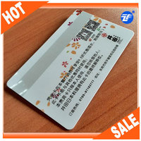 CR80 silver lo-co mag stripe contactless nfc vip card