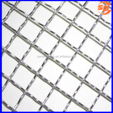 galvanized/stainless steel plain weave crimped BBQ wire mesh/barbecue grill nets