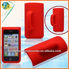 2012 NEW! Hotsale silicone case For Iphone 4G 4GS cup with handle design cell phone case
