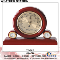 Wooden Weather Station Barometer Decor YG387