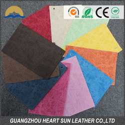 New fashion top grade yangbuck pu leather for shoes upper
