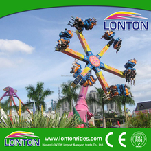 Support Customized Fairground Equipment Amusement Rides 24Seats Dragon Claw Rides Wind Fire Wheel Game