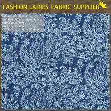 keqiao hot print denim fabric discharge print