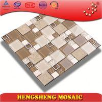 Latest design glitter decoration kitchen wall crystal glass mosaic tile