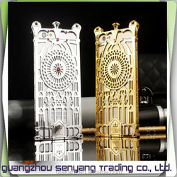 Diamond Electroplated Plastic Case for iPhone 6,The Church Door Hollow Out Mobile Phone Case for iphone 6 Plus