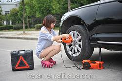 mini hydraulic jack portable 12v electric hydraulic jack roadside car emergency kit