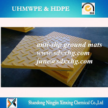 wear resistant UHMWPE crane foot support plate,texture Crane Stabilizer pads, truck foot mats