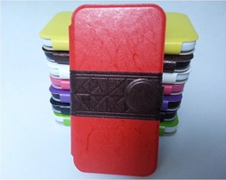 New technology voltage holster newest stand pu leather case for Samsung galaxy S4 I9500