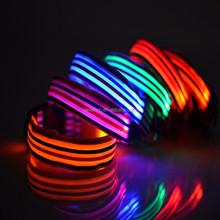 2015 NEW LED Nylon Pet Dog Collar Night Safety LED Light-up Flashing Glow in the Dark Lighted Dog Collars