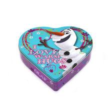 High quality big heart shape chocolate tin box