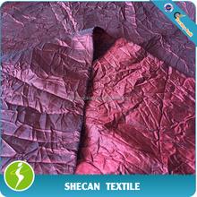 100% polyester crushed taffeta