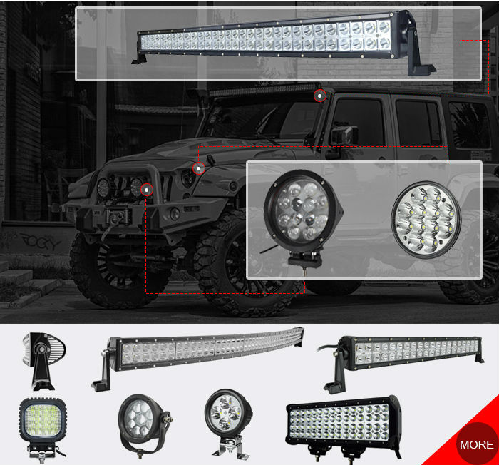 hotsale 288w waterproof 50 inch curved led light bart for trucks SUV,off road led light bar