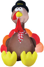 Thanksgiving turkey with turkey 6' inflatable halloween decoration NEW