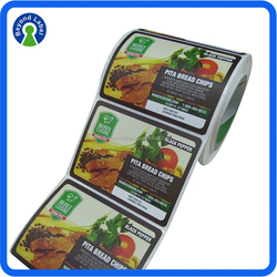 Rectangular shape avery self adhesive label paper for food,waterproof vinyl adhesive avery labels in packaging label