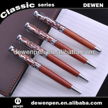 high quality engraving wooden ball point pen
