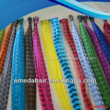Good quality cheap wholesale clip in feather hair extensions