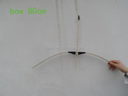 wooden promotional small archery bow toy for hunting and shooting