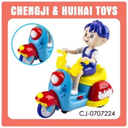 cartoon boy plastic toy motorcycle