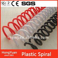 Wholesale custom printed office supply spiral binders and clear covers plastic book binding comb ring wire