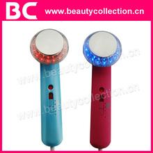 Bc-1302 luces LED Facial dispositivo de terapia por ultrasonidos dispositivo de masaje Facial