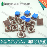 12X12 SMD tactile switch with square knob, push on push off switch, Momentary Tact Push Button Switch
