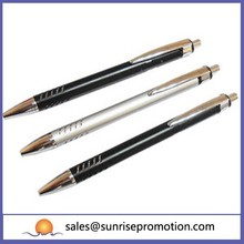 High Quality Promotion Ballpoint Pen Silver Aluminium