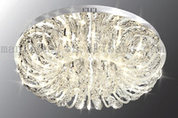 Russia Style Home Decor G4 LED Glass Leaf Ceiling Light Fitting