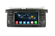 2015 newest pure android 4.4 quad-core car dvd for bw e46 support 3g free wifi