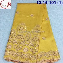 CL14-101 new fashion design Fan dance George fabric with sequin in African fashion style making lady dress woman dress george