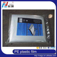 high quality mattress print pe film/ldpe plastic bag tube