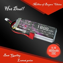 RC Rechargeable Lipo Battery Packs 11.1V 1800mah 20C For RC Helicopters