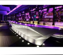 Neobon boat shape Leg Lighting hotel reception counter design
