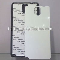 High quality blank sublimation soft TPU phone case for samsung note3 with metal sheet