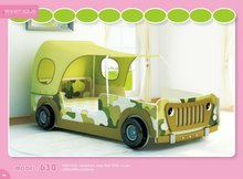 SMART KIDS 2012 E1 MDF hot sale 630T-01 jeep bed with cover bed passed SGS/ boy bed / children bed