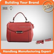 4027 Small Size Semi-PU wholesale fashion handbags Red Elegant Womens fashion Bags With a Long strap