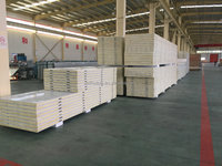 100mm thickness rigid high density pu wall sandwich panels